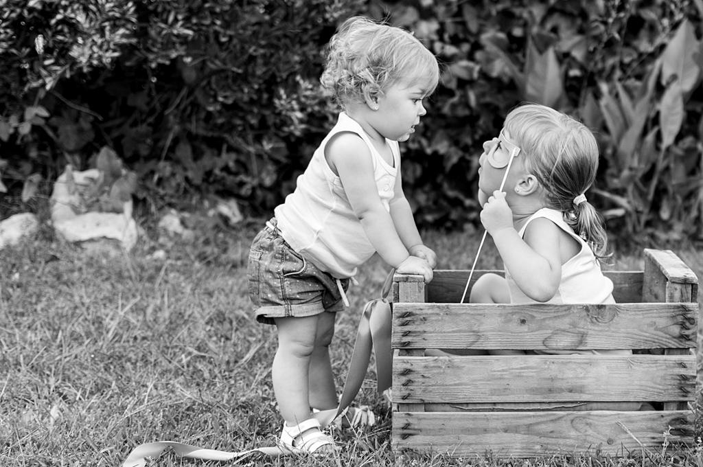 Sesión infantil exterior: Esther y Claudia
